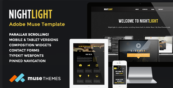 NightLight Parallax Muse Template