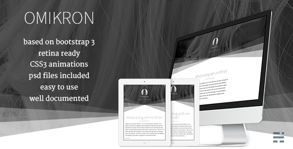Omikron - Minimal Responsive Bootstrap Ghost theme
