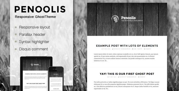 Penoolis - Responsive Parallax Ghost Theme