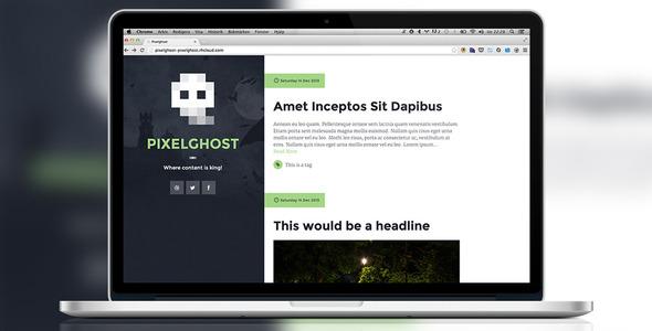 Pixelghost Ghost Theme