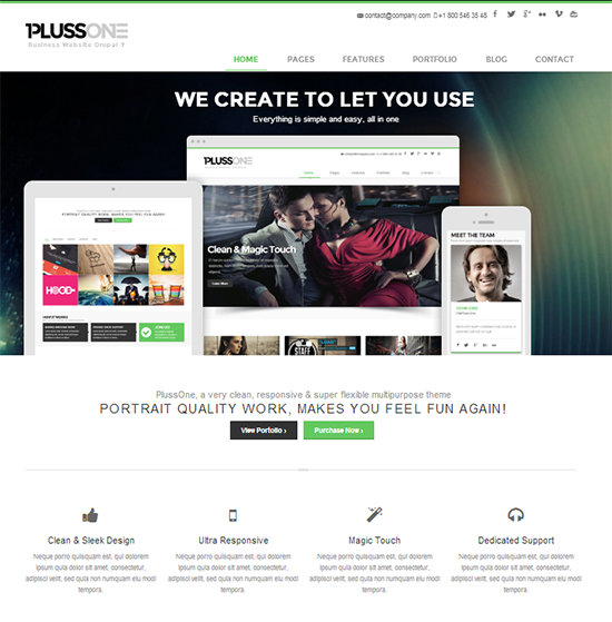 Plussone - Drupal Theme