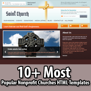 Popular Nonprofit Churches HTML Templates Thumbnail