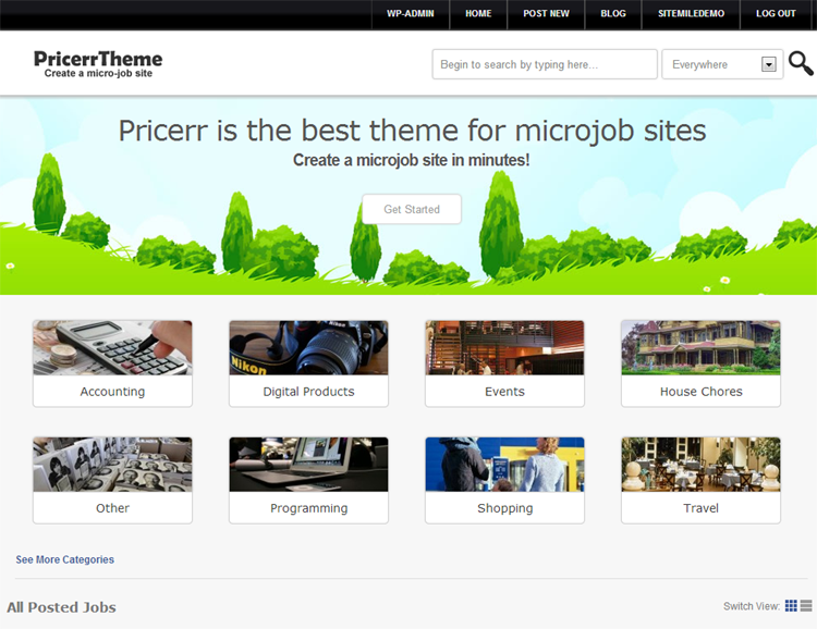 Pricerr WordPress Theme