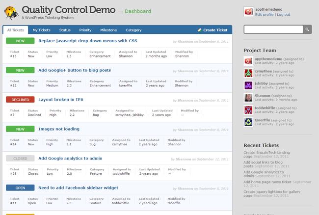 Quality Control WordPress Theme