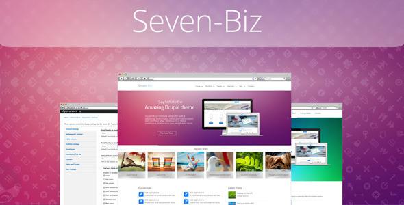 Seven-Biz - Responsive Multipurpose Drupal Theme