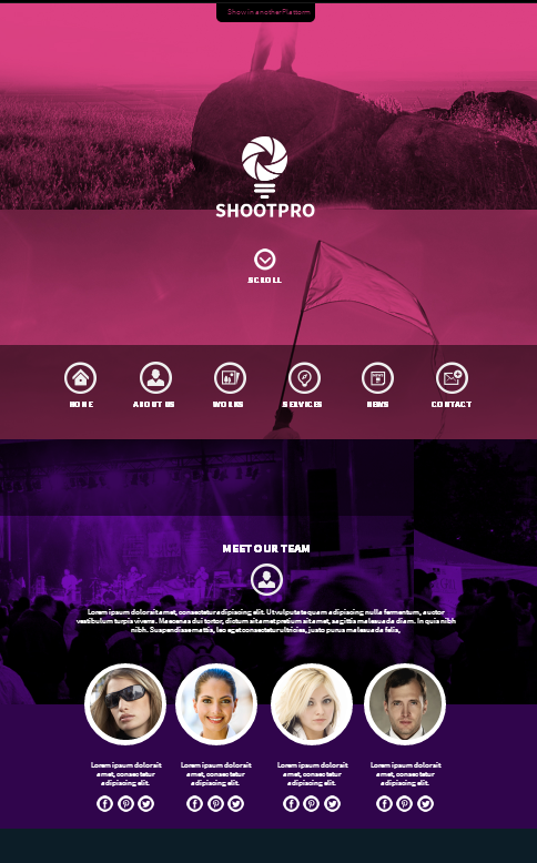 Shootpro Studios Muse Template 2.0