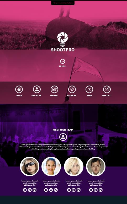 Shootpro Studios Muse Template 2.0