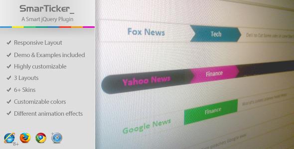 SmarTicker - A Smart jQuery News Ticker Plugin