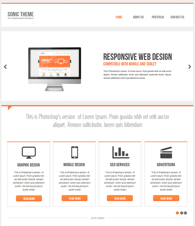 Sonic Adobe Muse Theme