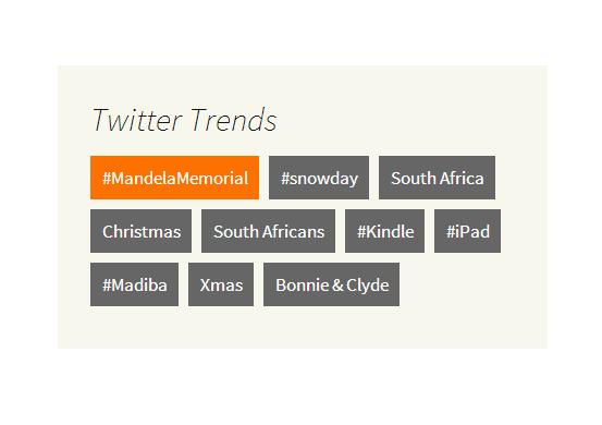 Twitter Trends Widget Screenshot