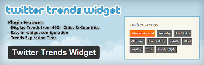 Twitter Trends Widget WordPress