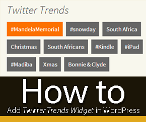 How to Add Twitter Trends Widget in WordPress