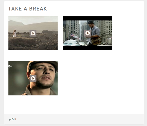 Video Gallery Page