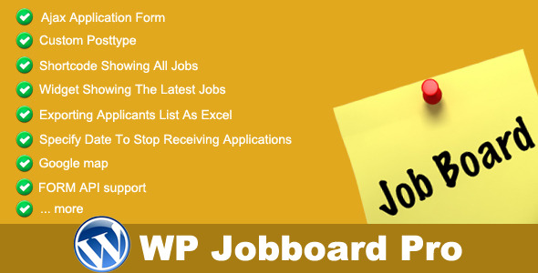 WP Jobboard Pro WordPress Plugin