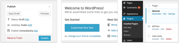 WordPress 3.8 Parker