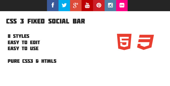 CSS3 Fixed Social Bar