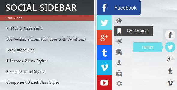 CSS3 Social Sidebar
