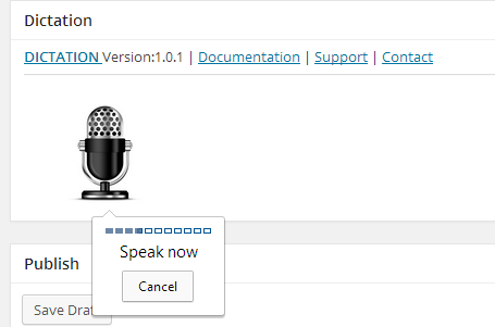 Dictation Speech Recognition WordPress Screenshot 01
