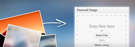 Drag & Drop Featured Image in WordPress thumbnail