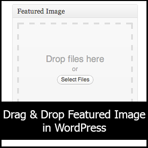 Drag & Drop Featured Image in WordPress thumbnail
