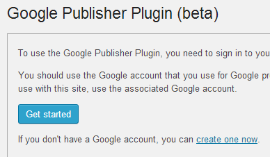 Google Publisher Plugin Settings Page
