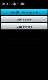 USB Mode Kies (Firmware Update)