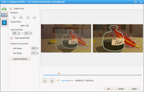 Video Cropping with AVC