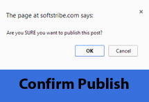 Confirm Publish WordPress