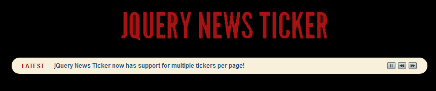 jQuery News Ticker for WordPress