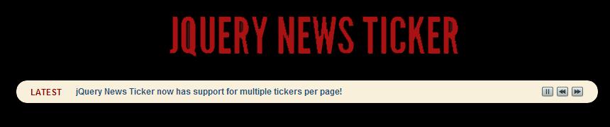 jQuery News Ticker for WordPress