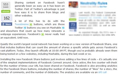 Facebook Share (New) Button