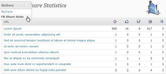 Facebook Share Statistics