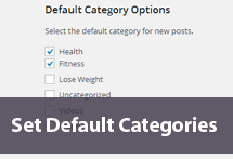Set Default Categories in WordPress