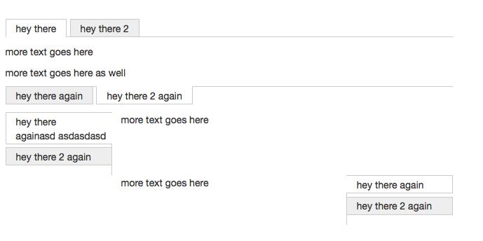 Tabs Shortcode Screenshot