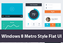 Free PSD Kits for Windows 8 Metro Style Flat UI Designs