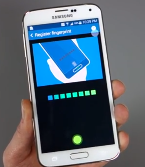 Fingerprint Scanner Galaxy S5 Screenshot