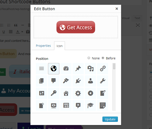 Forget About Shortcode Buttons Screenshot 2