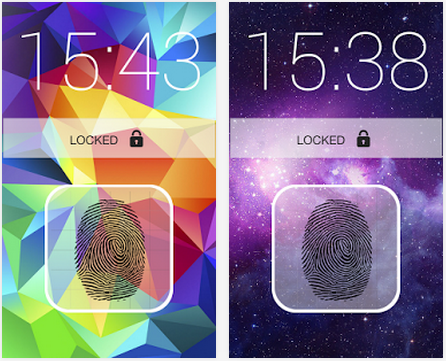 Galaxy S5 Fingerprint Lock Android