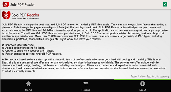 Solo PDF Reader for Android