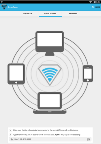 App of the Day: SuperBeam WiFi Direct Share for Android ...
