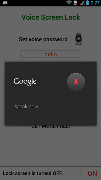 Voice Screen Lock for Android
