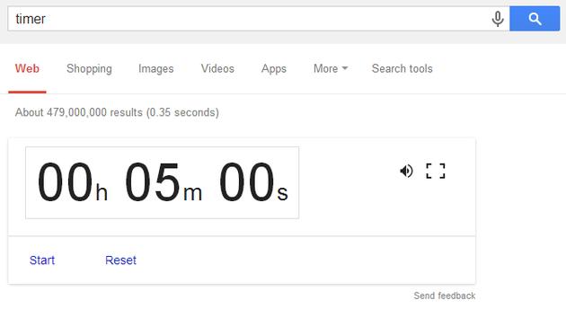 Google as timer