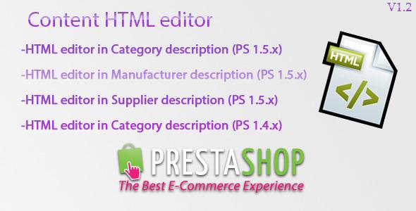 Prestashop Content HTML Editor