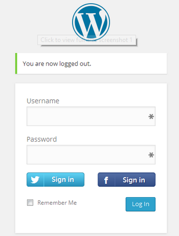 WordPress Login with Facebook and Twitter