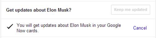 Get celebrities' updates via Google