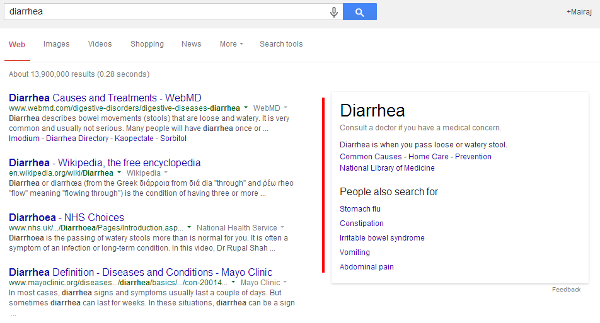 Google as doctor