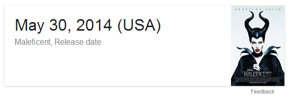 Release date feature of Google