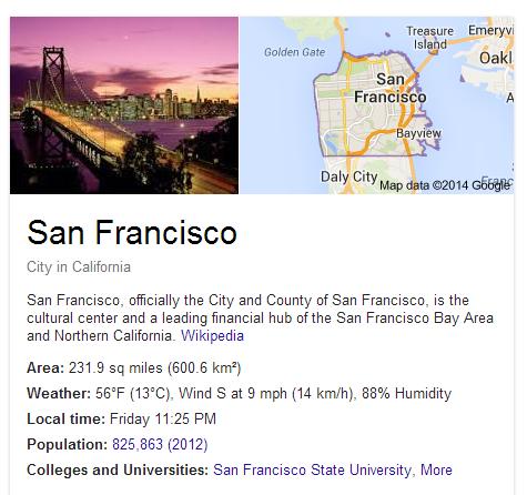 San Francisco Google maps