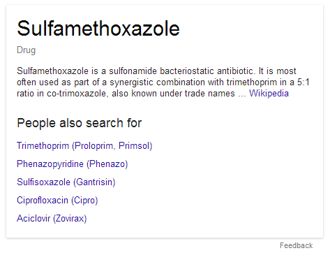 Drug information via Google