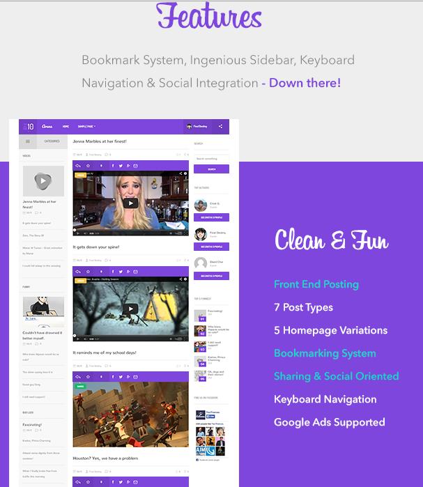 Aruna WordPress theme the exact 9Gag Clone